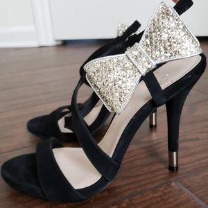 BCBGeneration sequin bow black heels